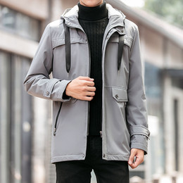 8fee7a483e9 Winter Trench Coat Men Plus Size Jacket 4xl Men Clothes 2018 Streetwear Jacket  Casual Windbreaker Casaco Masculino MY686