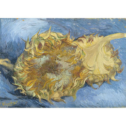 Lona de pintura a óleo de girassol on-line-Canvas art Pinturas a óleo pintadas à mão por Vincent van Gogh Dois girassóis pintando para decoração de parede