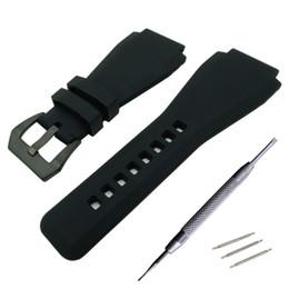 Fibbia a campana online-Nuova alta qualità per Bell per Ross 34 x 24mm HR cinturino cinturino con fibbia / fibbia per BR01 BR03