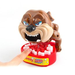 Wholesale Toy Bones For Dogs - Plastic Funny Bite Finger Toy Beware Dog Steal Bones Family Interactive Toy Kids Christmas Gifts Trick Prank Novelty Toy for Children