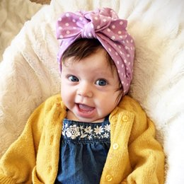 761ff819797 Baby Hat Newborn Sweet Dot Baby Girls Hat with Bow Candy Color Turban Cap  Girls Elastic Infant Accessories 1 PCS