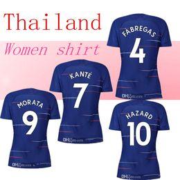 AAA S- XL 2018 2019 hazard women soccer Jersey Giroud 18 19 FABREGAS morata  PEDRO Alonso KANTE Girl football shirts 8e261be43