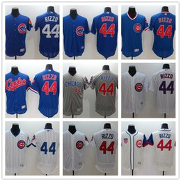 Wholesale Free Ncaa - NCAA 2017 hot Men's Chicago Cubs Jersey 44 Anthony Rizzo Baseball Cool white bule grey Baseball Jerseys free shipping
