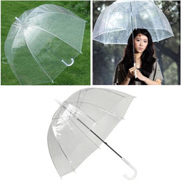 Wholesale transparent umbrellas bubble - Fashion Bubble Deep Dome Umbrella Transparent Umbrella Girl Mushroom Umbrella Clear Transparent Bubble Hot Sale DDA493