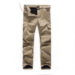 Wholesale Winter Overalls Men - Cargo Pants Multi-Pocket Winter Warn Velvet Regular Fit Men's Plus Size Tactical Style Overalls Full-Length 3 Colors Trousers