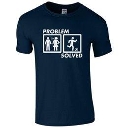 football presents UK - Problem Solved FOOTBALL T-Shirt - Dad Marriage Fathers Day Present Mens Gift Top