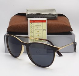 Wholesale 52mm Uv - 1pcs High Quality UV Protection Fashion Sunglasses Designer Brand Sun Glasses For Men Women Matt Black Gradient 52mm Lens With Brown Boxes
