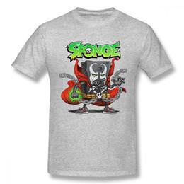 Disegni di spugna online-Per uomo Spiderman Sponge Venom T Shirt Boy Leisure Top Design per Boy 100% cotone vestiti Cartoon Camiseta