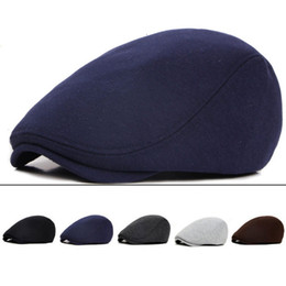 beret cap brim Canada - Golf Beret Cap Women Men Harden Brim Retro British  Style Adjustable e39d167479