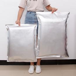 sceau d'argent en aluminium Promotion Super Large sacs en aluminium feuille thermoscellé emballage sac alimentaire Argent Aluminium Feuille Mylar Sacs Alimentaire Stockage LX1105