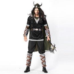 Cosplay disfraces de vaca online-Fiesta de Carnaval Disfraces de Halloween Adultos El traje de Hobbit Hombres Vaca Bull Devil Warrior Cosplay Game Uniform W158702