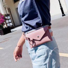 Sencillo de las mujeres Suave de LA PU Satchel Cintura Paquete Pecho de Color Puro Simple Casual Belt Bag Multifunctin Bolsa de Teléfono Portátil 2018 desde fabricantes
