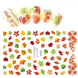 2019 decorazioni di foglie di autunno 12.2x7.5 cm 1 Foglio Nail Art 3D Decal Tema Autunno Decorazione Del Chiodo Consigli Maple Leaf Paern Sticker Per Unghie Beauty Care BEF204 sconti decorazioni di foglie di autunno