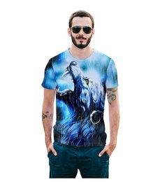 Wholesale Tiger Pattern Clothing - NEW men 3D Animal 3D T-shirt casual T-shirt Men clothes Pattern Tiger Wolf fashion Hot hiphop t-shirt men mens hip hop teen wear
