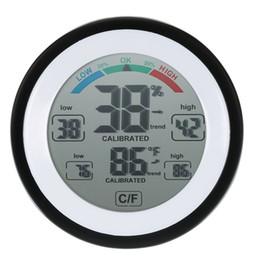 Affichage LCD numérique Thermomètre Intérieur Hygromètre Ronde Sans Fil Électronique Température Humidimètre Testeur Station Météo ? partir de fabricateur