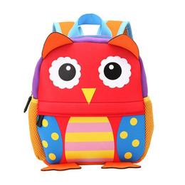 84af088a3fad Children 3D Cute Animal Design Backpack Toddler Kid Neoprene School Bags  Kindergarten Girls Boys Cartoon Zoo Pack Dog Monkey Owl