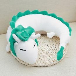 Wholesale Anime Miyazaki Hayao - New 28*10cm Anime Miyazaki Hayao Spirited Away Haku Cute Doll Plush Toy Pillow Neck U-Shape Wholesale