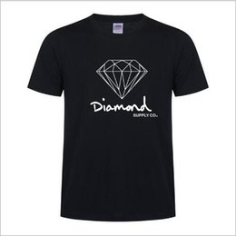 Wholesale diamond supply shorts - Brand Designer -New Summer Cotton Mens T Shirts Fashion Short-sleeve Printed Diamond Supply Co Male Tops Tees Skate Brand Hip Hop Sport Clot