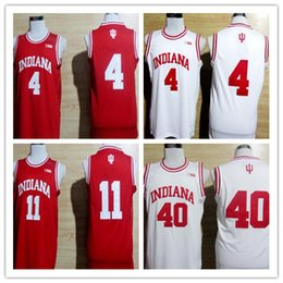 Wholesale Indiana Jersey - Victor Oladipo Jerseys Best mens Indiana Hoosiers College Basketball University 4 Isiah Thomas 40 Cody Zeller 11 Throwback color white red