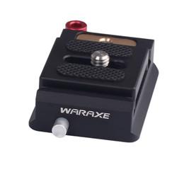 2019 mini transmisor de cámara PULUZ WARAXE 1633 Perilla de bloqueo de aleación de aluminio Arca-Swiss Estándar Abrazadera de placa de liberación rápida