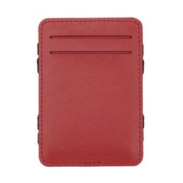 Двойная копия денег онлайн-whole saleASDS Mens Magic Flip Wallet Bifold Slim Credit Purse Money Clip