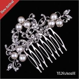 Wholesale Vintage Rhinestone Hair Combs - Crystal Austrian Hair Comb Wedding Bridal Vintage Hair accessorie Women Headwear 2015 New Hot Sell
