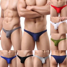 Wholesale sexy mens g string - Sexy Mens Mini G-string Briefs Modal Underwear Lingerie Fetish Bulge Pouch Jockstrap Underpants Low Rise Briefs