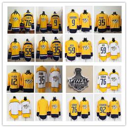 Wholesale Quick Stop - 2017-2018 Season Nashville Predators 9 Forsberg 12 Mike Fisher 35 Pekka Rinne 59 Roman Josi 76 PK Subban 92 Ryan Johansen Hockey Jerseys