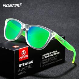 255f7e314b 2019 marco ancho KDEAM Tendencia TR90 Hombres Gafas de sol Polarizadas  Amplia gama de colores Gafas