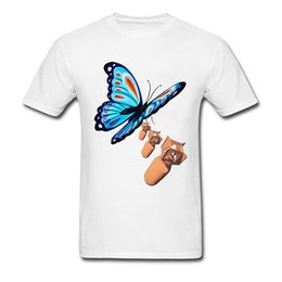 1dd35db05 butterfly t shirt design Promo Codes - Bombs Away Creative Design Men T  Shirt White Top