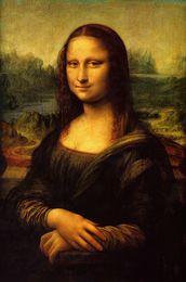 Classica Mona Lisa Decorazione Della Parete Poster Decorazione Della Casa Pittura HD Tela Soggiorno decorazione della parete di casa poster di stoffa da quadri d'aria fornitori
