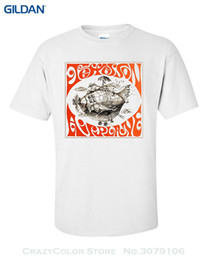 airplane prints Australia - Wholesale discount Fashion Men Printed T Shirts Jefferson Airplane Airplane T shirt Wholesale discountedelic Rock, Folk Rock, Acid Rock