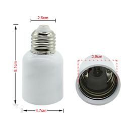 2019 extensor e27 Adaptador de LED E27 a E40 Soporte de lámpara Convertidor Zócalo Bombilla Soporte de lámpara Adaptador Enchufe Extensor Luz Led rebajas extensor e27