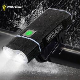 cree teile Rabatt WOSAWE Radfahren Fahrrad Licht 2400 Lumen XML LED Lampe Fahrrad Front Light USB Taschenlampe wiederaufladbare 18650 Batterien mit Halter Y1892709