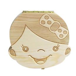 Детские зубы деревянный ящик для хранения девушки мальчики изображения дети зуб сохранить шерсть коробка творческие подарки для детей Trave комплект английский испанский версия cheap english for kids от Поставщики английский для детей