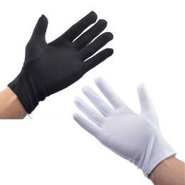Trabalhando luvas de algodão on-line-1 Par de Luvas de Algodão Branco Atacado Cerimonial Industrial Trabalho Proteção para As Mãos Luvas Sólidas