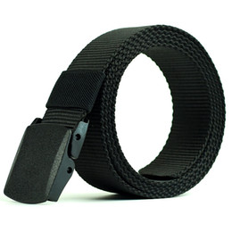 Wholesale wholesale canvas belt strapping - Nylon Belt Male Army Tactical Belt Men and Women Military Waist Canvas Automatic Buckle Cummerbunds High Quality Strap