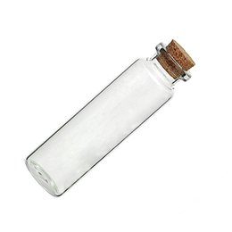 "Wholesale Wholesale Small Glass Bottles Jewelry - 5 Pcs Small Vase Tiny Glass Bottle Jewelry Vial Potion Tie Plug Size:7.9cm x2.2cm(3 1 8"" x 7 8"")"