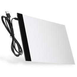 Tableaux de table en Ligne-USB Night Light Lamp A4 LED Artiste Tatouage Conseil Boîte à Lumière Acrylique Tracing Dessin Conseil Pad Table DC5V 1A