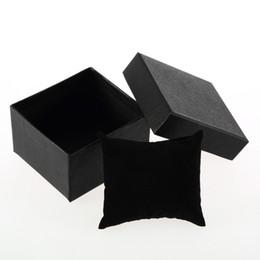 Серьги внутри онлайн-1шт ювелирные изделия часы Box Case часы дисплей держатель с пены Pad внутри подарок Box кольцо серьги запястье хранения
