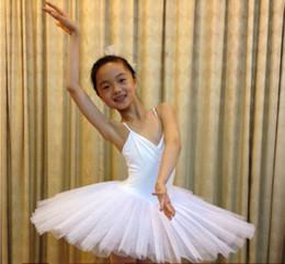 ecdcbc457e5 trajes de danza clásica Rebajas Ballet profesional Tutu White Swan Lake  traje de baile Pancake Girls