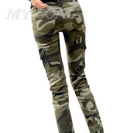 Wholesale Women Plus Size Camouflage Pants - 2017 Pants Women Cotton Fashion Camouflage Women Pants Pencil Long Plus Size