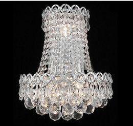 Wholesale chrome crystal wall lights - Phube Lighting Gold Crystal Wall Lamp Light Modern Chrome Crystal Wall Lamp Bedside Sconce Light Lighting
