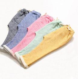 Wholesale harem pants for children - kids children harem pants for boys trousers kids child casual pants candy solid colors Harem pants causal sports trousers KKA4044
