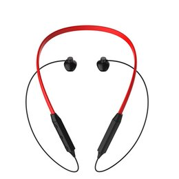 Wholesale Wireless Noise Cancellation - 2018 Newest HBQ-IX Bluetooth V4.2 Neck-Hanging In-Ear Earphone Noise Cancellation Waterproof Headset for iPhone Samsung with box