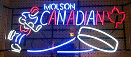 Wholesale molson beer - New Molson Canadian Real Glass Neon Sign light Beer Bar Sign Send need photo 19x15""