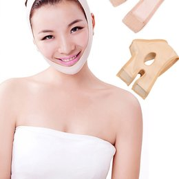 face slimmer belt Promo Codes - 50pcs DHL Delicate Facial Thin Face Mask Slimming Bandage Skin Care Belt Shape And Lift Reduce Double Chin Face Mask Face Thining Band