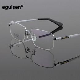 82714bff6 WIDTH-150 Novos titânio puro óculos de armação de homens de negócios  espetáculo de óculos ultra-leve grande rosto confortável espelho miopia