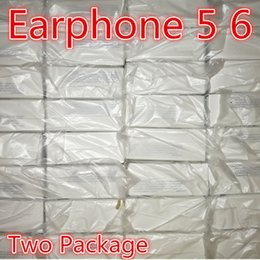 Wholesale Earphones Oem - With packaging Genuine Original OEM Quality headset in ear headphones earphone With Remote Mic Control for 3.5mm phone 5 5s 6 6S plus