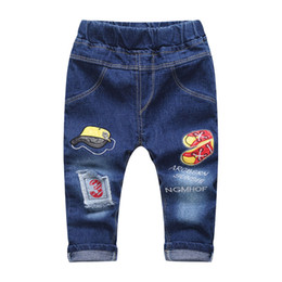 color patches jeans Canada - New Patch Boys Jeans Pants Spring Autumn Print  Kids Jeans Trousers a8ebcd0b9